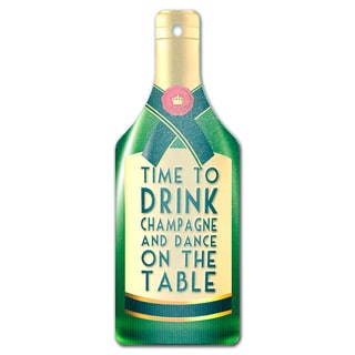 Champagne Bottle Shape Glass Cutting Board