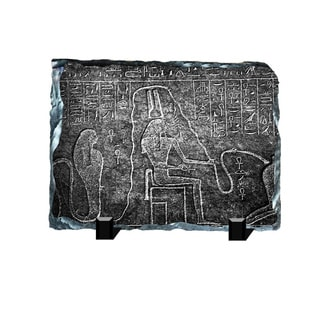 Sacred Snake Egyptian Hieroglyphs Printed on One of a Kind Slate Wall Decor