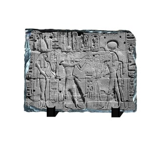 Great Pharoah Egyptian Hieroglyphs Printed on One of a Kind Slate Wall Decor