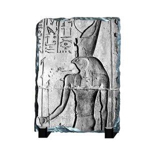 Horus God of Vengeance Hieroglyphs Printed on One of a Kind Slate Wall Decor