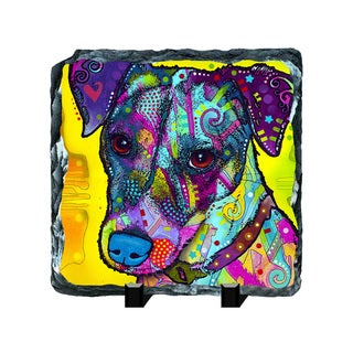 Terrier Colorful Animals Art Printed on Slate Wall Decor