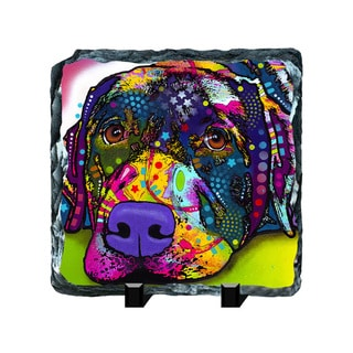 Labrador Colorful Animals Art Printed on Slate Wall Decor