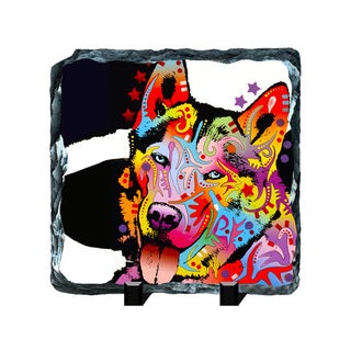 Husky Colorful Animals Art Printed on Slate Wall Decor