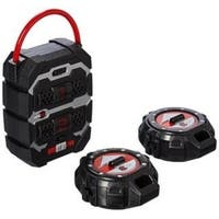 SpyX Spy Tracker - set of 2 motion alarms with wireless receiver to protect your lair - Black/red