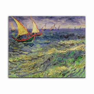 Seascape Van Gogh Masterpiece Printed on Metal Wall Decor