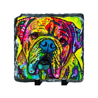 Bulldog Colorful Animals Art Printed on Slate Wall Decor