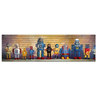 Suspects Vintage Robot 10x36 Printed on Metal Wall Decor