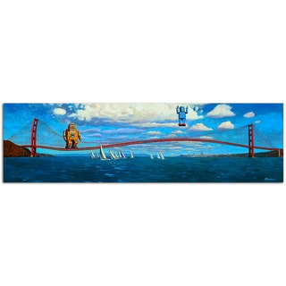 Golden Gaters Vintage Robot 10x36 Printed on Metal Wall Decor