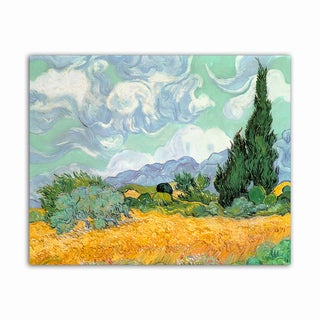 Wheat Field Van Gogh Masterpiece Printed on Metal Wall Decor