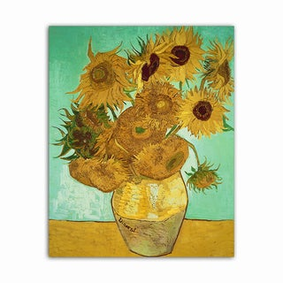 Sunflowers Van Gogh Masterpiece Printed on Metal Wall Decor