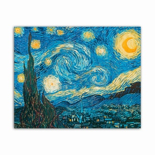 Starry night Van Gogh Masterpiece Printed on Metal Wall Decor