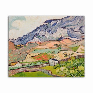 The Alpilles Van Gogh Masterpiece Printed on Metal Wall Decor