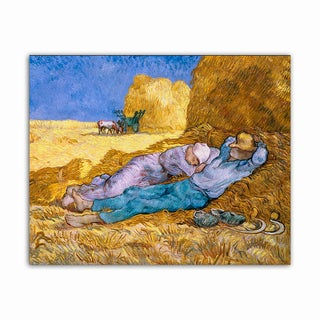Noon or Siesta Van Gogh Masterpiece Printed on Metal Wall Decor