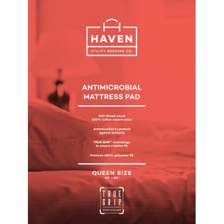 Mattress Protector White 400 Thread Count Antimicrobial by Haven (4 options available)