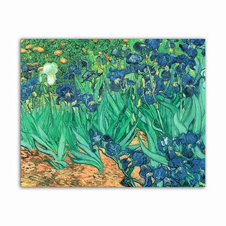 Irises Van Gogh Masterpiece Printed on Metal Wall Decor