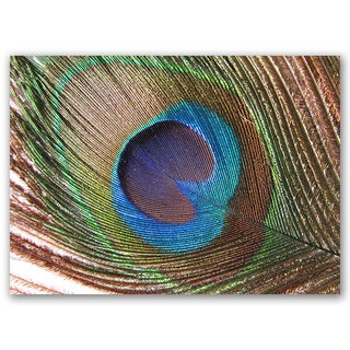 Peacock Good Luck Collection 5x7 Printed on Metal Wall Decor