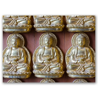 Buddha Metal Good Luck Collection 5x7 Printed on Metal Wall Decor