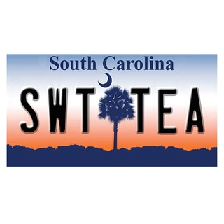 South Carolina License Plate 12x 6 Printed on Metal Wall Decor