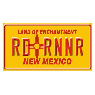 New Mexico License Plate 12x 6 Printed on Metal Wall Decor