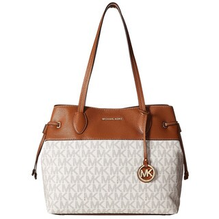 Michael Kors Marina Vanilla North South Large Drawstring Tote