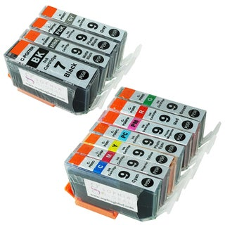 Sophia Global Compatible Ink Cartridge Replacement for PGI-7 and PGI-9 (Pack of 11)