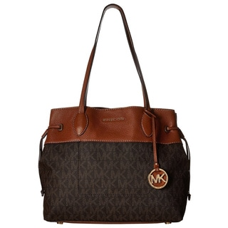Michael Kors Marina Brown North South Large Drawstring Tote