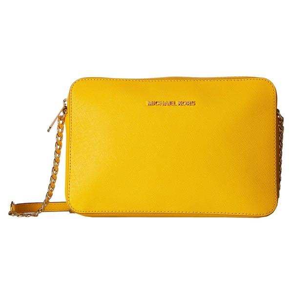 shop michael kors jet set sunflower travel large crossbody handbag rh overstock com