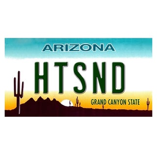 Arizona License Plate 12x 6 Printed on Metal Wall Decor