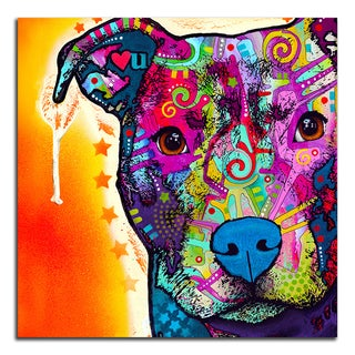 Colorful Pitbull Metal Printed on Metal Wall Decor