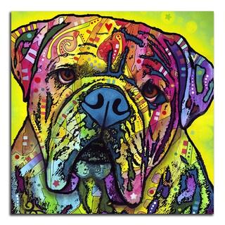 Colorful Bulldog Metal Printed on Metal Wall Decor
