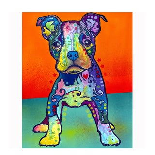 Puppy Colorful Animals Printed on Metal Wall Decor