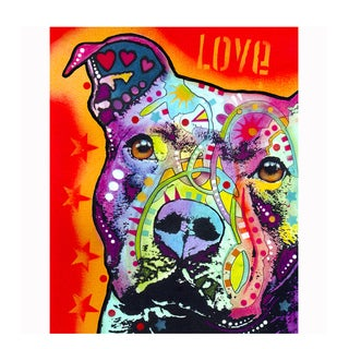 Pitbull Love Colorful Animals Printed on Metal Wall Decor
