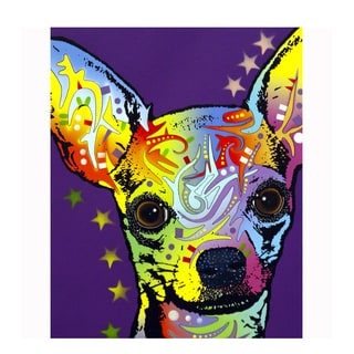 Chihuahua Colorful Animals Printed on Metal Wall Decor