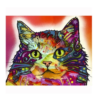 Cat Red Colorful Animals Printed on Metal Wall Decor