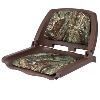 Shoreline Marine Boat Seat Camo Brown