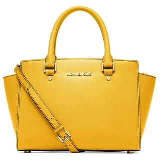 Michael Kors Selma Sunflower Medium Satchel Handbag