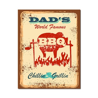 Dad's BBQ Man Cave Humorous Quotes Collection 11x14 Printed on Metal Wall Decor