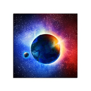 Sun Rays Space Fantasy 12x12 Ready to Hang Printed on Metal Wall Decor