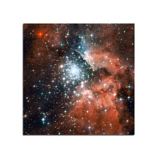 Star Cluster Space Fantasy 12x12 Ready to Hang Printed on Metal Wall Decor