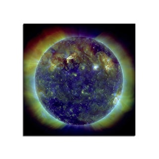 Solar Flares Space Fantasy 12x12 Ready to Hang Printed on Metal Wall Decor