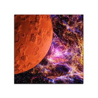 Red Moon Space Fantasy 12x12 Ready to Hang Printed on Metal Wall Decor