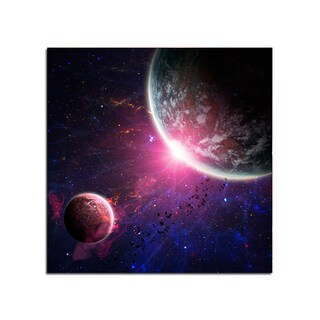 Near Planet Space Fantasy 12x12 Ready to Hang Printed on Metal Wall Decor