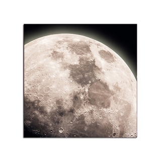 Moon Close Up Space Fantasy 12x12 Ready to Hang Printed on Metal Wall Decor