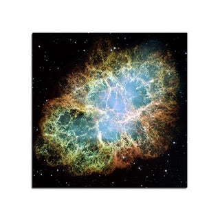 Crab Nebulae Space Fantasy 12x12 Ready to Hang Printed on Metal Wall Decor