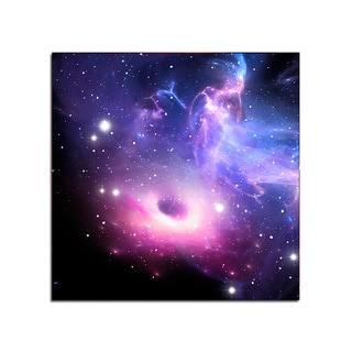 Black Hole Space Fantasy 12x12 Ready to Hang Printed on Metal Wall Decor
