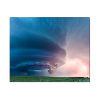 Supercell Weather Wonders 16x20 Digital Image Printed on Metal Wall Decor