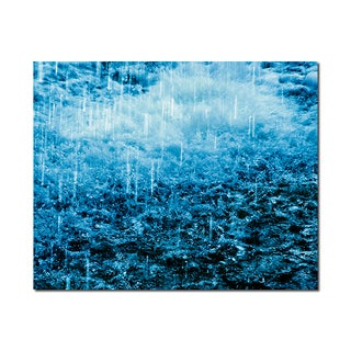 Raining Weather Wonders 16x20 Digital Image Printed on Metal Wall Decor