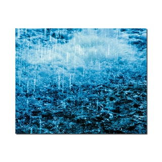 Raining Weather Wonders 16x20 Digital Image Printed on Metal Wall Decor