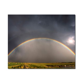 Rainbow Arch Weather Wonders 16x20 Digital Image Printed on Metal Wall Decor