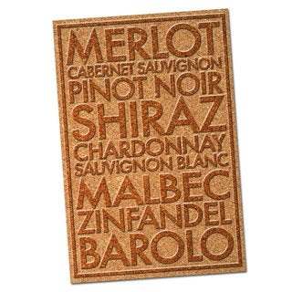 Wine Cork Famous Drinks and Cocktails Names on Colorful Metal Wall Decor